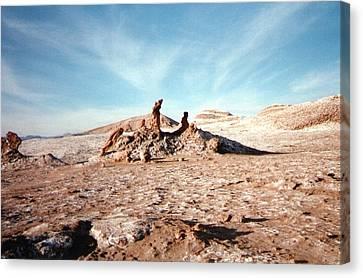 Valle De La Luna - Atacama Desert Northern  Canvas Print by Ronald Osborne