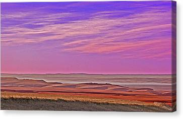 Valley Glow Canvas Print by Jim Justinick