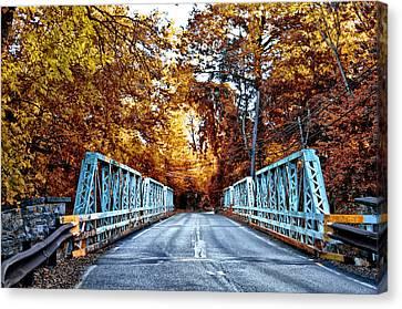 Philadelphia Cricket Club Canvas Print - Valley Green Road Bridge In Autumn by Bill Cannon