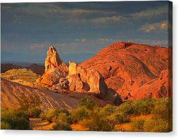 Valley Of Fire - Picturesque Desert Canvas Print by Christine Till