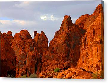 Valley Of Fire - The Landscape Burns Canvas Print by Christine Till