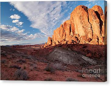 Valley Of Fire Canvas Print by Art Whitton