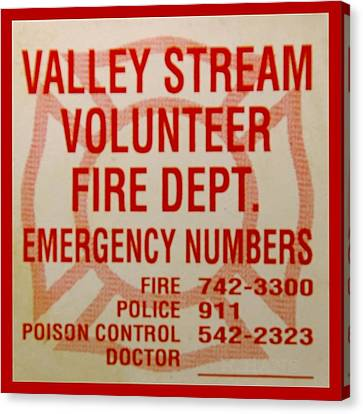 Valley Stream Fire Department Canvas Print by Rob Hans