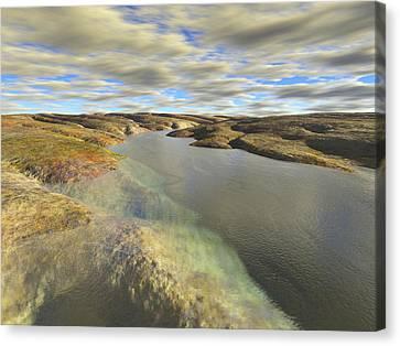Valley Stream Canvas Print by Mark Greenberg