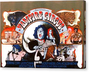 Vampire Circus, Anthony Corlan Center Canvas Print by Everett