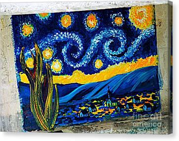 Van Gogh Graffiti Canvas Print