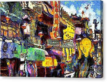 The Scream Canvas Print - Van Gogh Meets Up With The Screamer In San Francisco Chinatown . 7d7174 by Wingsdomain Art and Photography