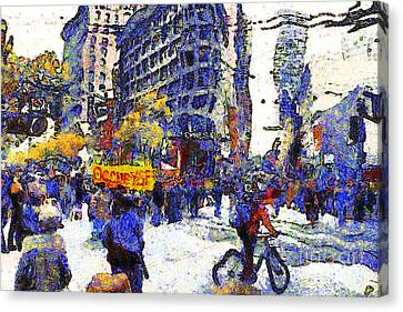 Van Gogh Occupies San Francisco . 7d9733 Canvas Print by Wingsdomain Art and Photography