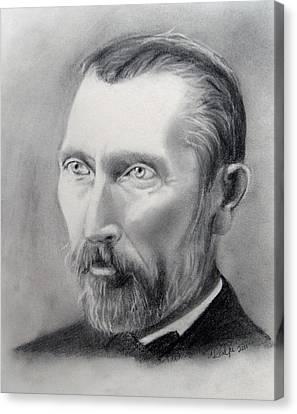 Van Gogh Pencil Portrait Canvas Print by Andrea Realpe
