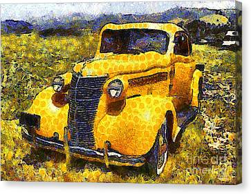 Van Gogh.s Old Ride 7d15315 Canvas Print by Wingsdomain Art and Photography