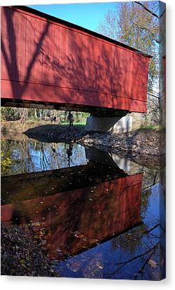 Canvas Print featuring the photograph Van Sant Covered Bridge by Steven Richman