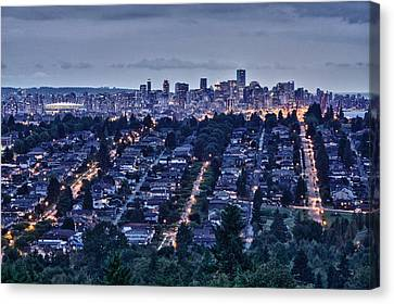 Canvas Print featuring the photograph Vancouver Bc Canada by Scott Holmes