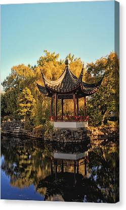 Vancouver - Chinese Garden Canvas Print by Long Nguyen