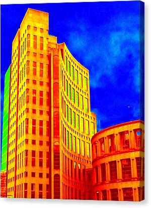 Vancouver Library 4 Canvas Print by Randall Weidner