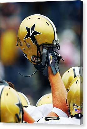 Vanderbilt Commodore Helmet  Canvas Print by Vanderbilt University