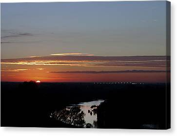 Canvas Print featuring the photograph Vanishing Sunset by Maj Seda