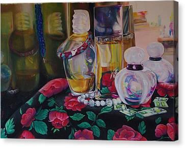 Vanities Canvas Print by Loueen Morrison