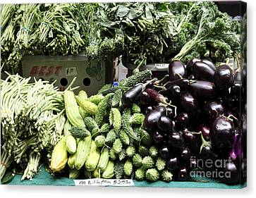 Variety Of Fresh Vegetables - 5d17828 Canvas Print by Wingsdomain Art and Photography