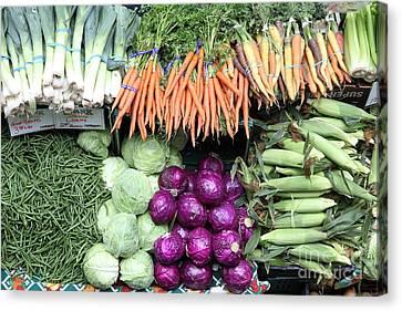 Variety Of Fresh Vegetables - 5d17910 Canvas Print
