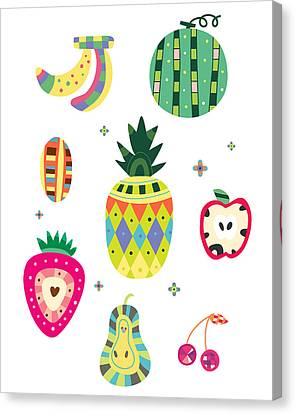 Various Kinds Of Fruit Canvas Print by Eastnine Inc.