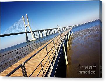 Vasco Da Gama Bridge Canvas Print by Carlos Caetano