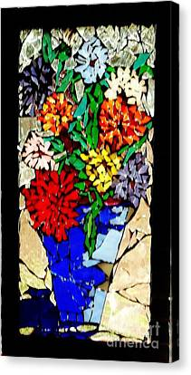 Vase Of Flowers Canvas Print by Brenda Marik-schmidt