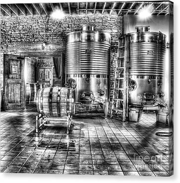 Vat To Barrel Canvas Print by Jimmy Ostgard