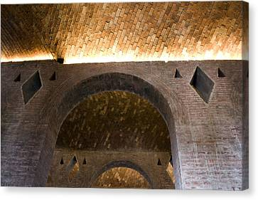Vaulted Brick Arches Canvas Print by Lynn Palmer