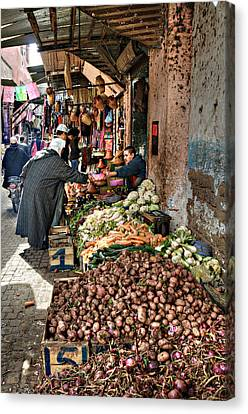 Veg Alley Canvas Print by Marion Galt