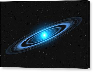 Vega Star With Rings Canvas Print