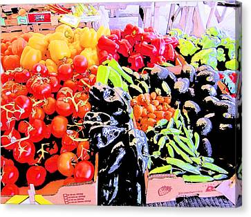 Canvas Print featuring the photograph Vegetables On Display by Kym Backland