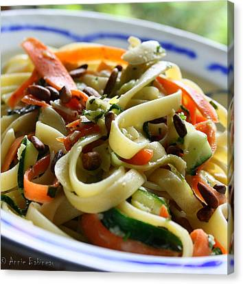 Veggie Ribbon Pasta Canvas Print by Anne Babineau