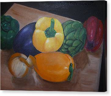 Veggies In Waiting Canvas Print by Mary Dunn
