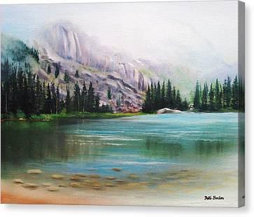 Veil Over Elk Lake Canvas Print by Patti Gordon