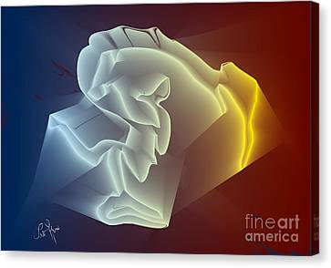 Canvas Print featuring the digital art Velvet by Leo Symon