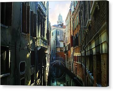 Venetian Canal Canvas Print by Jan Vidra