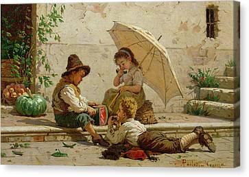 Venetian Children Canvas Print