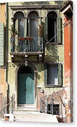 Canvas Print featuring the photograph Venetian Doorway by Carla Parris