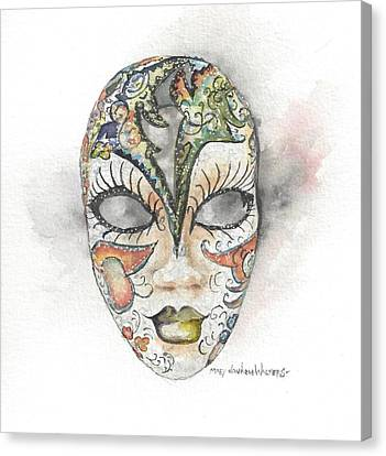 Venetian Mask Iv Canvas Print by Mary Dunham Walters