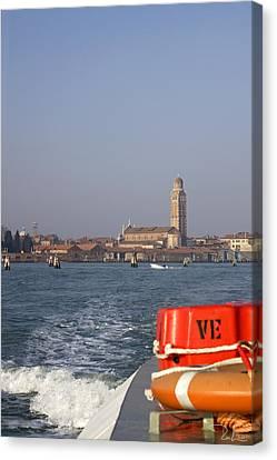 Canvas Print featuring the photograph Venezia. From The Ferry To Murano. by Raffaella Lunelli