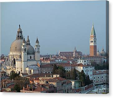 Canvas Print featuring the photograph Venice At Dusk by Joseph Hendrix