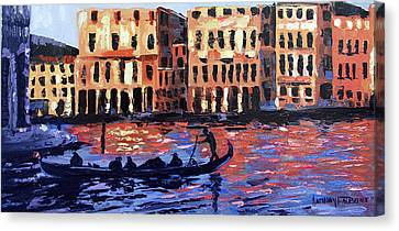 Venice At Twilight Canvas Print by Anthony Falbo