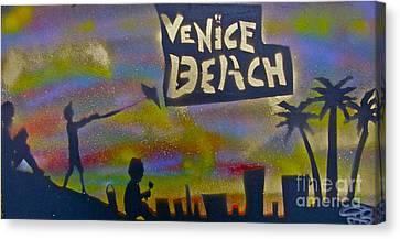 Venice Beach Life Canvas Print by Tony B Conscious