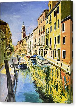 Venice Canal Canvas Print by Conor McGuire