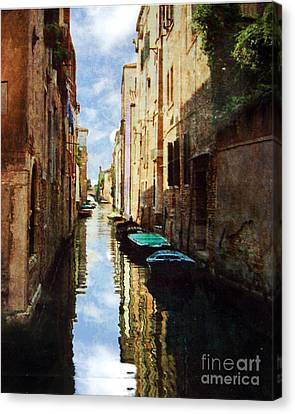 Canvas Print featuring the photograph Venice Canal by Deborah Smith