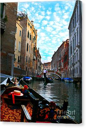 Canvas Print featuring the photograph Venice Canal by Jeanne  Woods