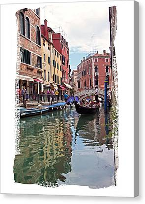 Canvas Print featuring the photograph Venice Canal by Judy Deist