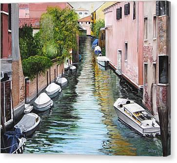 Venice Canal Canvas Print by Stuart B Yaeger