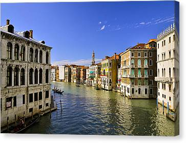 Venice Canale Grande Canvas Print by Travel Images Worldwide