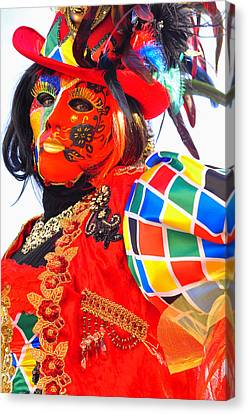 Canvas Print featuring the photograph Venice Carnival by Graham Hawcroft pixsellpix